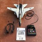 Vintage 1990 New Bright F-14 Tomcat Corded Remote Control Fighter Jet