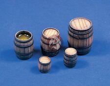 Verlinden 1/35 Assorted Wooden Barrels (5 pieces) [Resin Diorama Accessory] 379