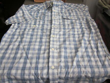 NWT LOT OF 2 AMERICAN RAG MENS S/S WESTERN STYLE BUTTONFRONT COTTON SHIRTS SMALL