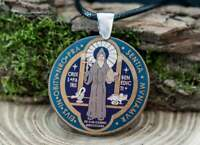 St Benedict Medal Saint Benedict Medalion * Medalla San Benito Christian Necklac