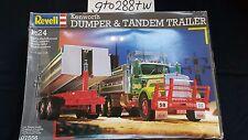 Revell AG 1/24 scale Kenworth T900 Dumper Truck & Tandem Trailer #7556