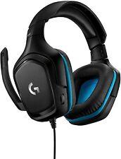 Headset Logitech G432 Gaming 7.1 Surround schwarz/blau für Konsolen 2m Kabel USB