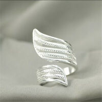 925 Solid Sterling Silver Plated Women/Men NEW Fashion Ring Gift SIZE OPEN HJ198