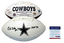 Bob Lilly Autographed SIGNED Dallas Cowboys Logo Football - PSA/DNA w/ Photo