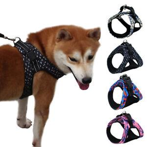 Pet Small Medium Large Dog Harness Easy On and Off Adjustable Training Vest C2UK