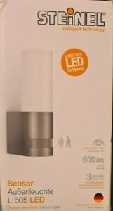 Steinel L 605 LED Outdoor Wall Light IP44 With 10m Range Motion Sensor 065287