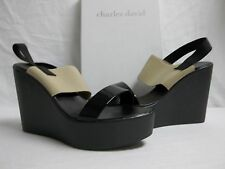Charles David Size 10 M Angie Black Open Toe Wedges New Womens Shoes