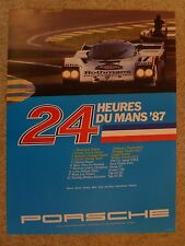 1987 Porsche 962 C 24 Hours of Le Mans Victory Showroom Advertising Poster RARE!
