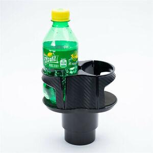 Carbon Fiber Look Car Coffee Cup Holder Mount Console Bottle Drinking Bracket