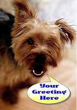 PERSONALISED YORKSHIRE TERRIER DOG FATHERS DAY BIRTHDAY ANY OCCASION CARD Insert