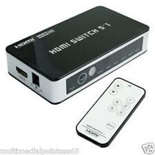 COMMUTATORE SWITCH HDMI 5 IN 1 OUT VH207 TELECOMANDO MOLTIPLICA INGRESSI HDMI TV