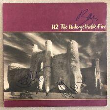 "U2 Signed ""The Unforgettable Fire"" Record by Bono, The Edge, Adam Clayton - JSA!"