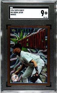 SGC 9 1996 Topps Finest Phenoms Derek Jeter Bronze #92 MINT Yankees