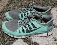 Nike Free 5.0+ Women's Shoes Size 11 Green Gray Running Athletic 580591-003