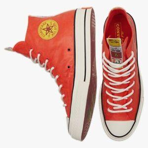 New Unisex Converse Firecracker Orange Chuck 70 Hi Top Sneakers