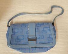 WOMENS BABY BLUE GUESS HANDBAG PURSE POCKETBOOK SHOULDER BAG