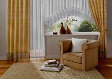 Dekogarnitur Gardine  Vorhang H 245cm Br je 140cm  übergardine store  Gelbgold