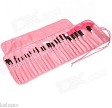 Pro Cosmetic Makeup Brush Set with Pink Bag with 24-Piece Brushes