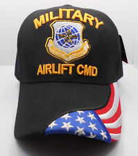 U.S. Military Airlift CMD Licensed Ball Cap Hat In Black New Nwt HH-3