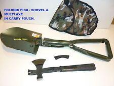 CAMPING TOOLS - FOLDING SHOVEL & COMBO AXE - BRAND NEW