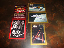 Star Wars---Episode-1---Stickers---Space Battle Series-1---Set Of 3 With Header