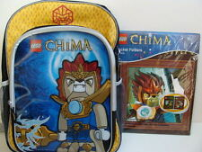 NWT LEGO CHIMA Backpack Book Bag + Pocket Folders Boys School Supplies Set Pack