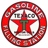 "TEXACO VINTAGE vinyl cut sticker decal 6"" (full color)"
