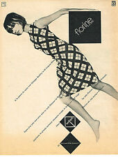 PUBLICITE  1965   PRISUNIC   robe FLORINE
