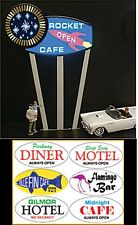 Miller's Multi Graphic  Interchangeable  Animated Neon Sign O/HO Scale #7181