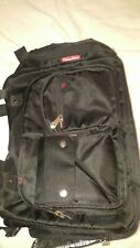 Fisher-Price Diaper Bag Black 12 Pockets FastFinder Shoulder, excellent con.