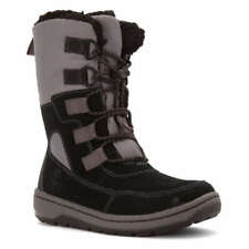 Toddler Sz 4.5 Timberland Winterfest Black/Grey Suede Boots Faux Fur Waterproof