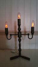 VINTAGE Lampadario in ottone con lampadine Tremolante