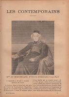 Mgr Jean Brumauld de Beauregard  FRANCE JOURNAL COMPLET 16 PAGES 1893