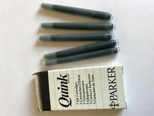 VINTAGE QUINK PARKER 5 CARTUCCE INCHIOSTRO NERO STILOGRAFICA FOUNTAIN PEN NEW !