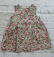 BABY GAP Dress Girls S 3-6 Months Summer Garden Pink Green Floral Berry