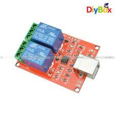 2 Channel USB Relay 5V Programmable Computer Control For Smart Home D