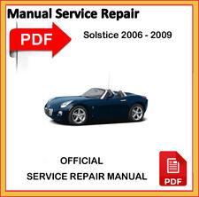 Pontiac Solstice 2006 2007 2008 2009 Factory Service Repair Workshop Manual