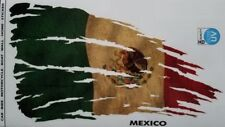 """Mexico Flag Tattered and Distressed Decal Sticker 8"""" x 4.5"""""""