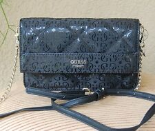 NWT Beautiful GUESS Ophelia Petite Crossbody Handbag Flap Color Black
