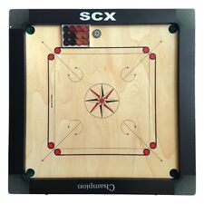 PRO CARROM BOARD 8mm GAME WITH COINS & STRIKER  LARGE FULL SIZE FAST SHIPPIING