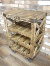 Retro Industrial vintage wine rack Trolley 8 bottle wine store urban 3 Tier