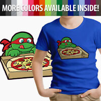 Toddler Kids Boy Girl Tee Youth T-Shirt Print Funny Hungry Raphael Pizza combat