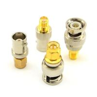 BNC Male to SMA Kits RF Coaxial Adapter Male Female Coax Connector 4 Pieces H9L8