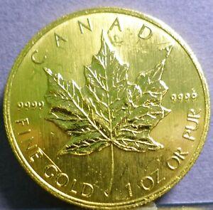 1998 $50 Gold 1 Oz Canadian Maple Leaf