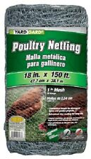 "Yard Gard 308419B 18"" x 150' ft 1"" Galvanized Poultry Netting Chicken Wire Fence"