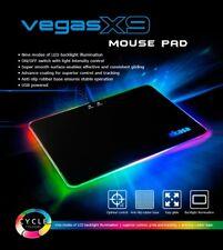 Akasa Vegas X9 RGB Hard Mousepad, 350 x 250 x 5.8mm, 9 Modes, USB