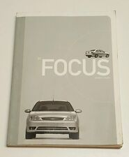 2007 FORD FOCUS OWNERS MANUAL GUIDE V4 2.0L SES SE S AUTO MANUAL FUSES RADIO