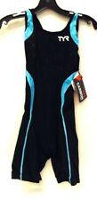 TYR Women's L Black/Light Blue Aeroback Triathlon Short John CARBON, RETAIL $250