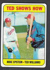 Ted Williams Danbury Mint Porcelain Reprint Card 1969 Topps Ted Shows How #539