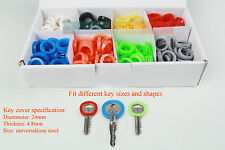 16 PCS Colours Key Cap Cap Cover Rubber Head Easy Identify Key Covers Rings Pack